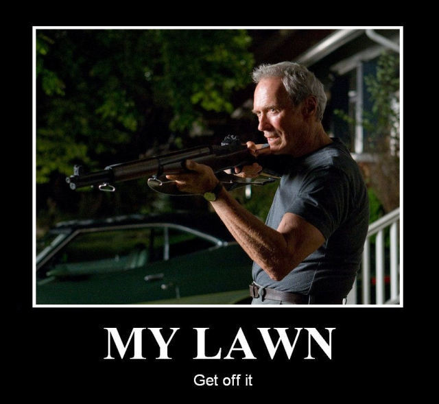 My lawn, get off it